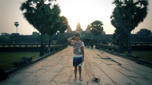 Out Front of Angkor Wat
